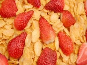 Cereales con fresas