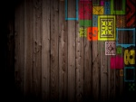 Graffiti en la madera