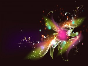 Bonita flor abstracta