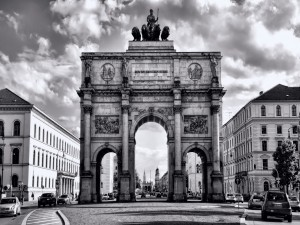 Múnich en blanco y negro