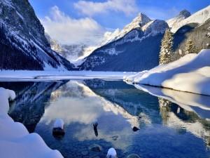 Impresionante paisaje invernal