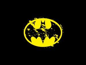Logo de Batman en fondo negro