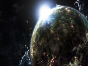 La salida del sol en el universo