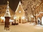 Noche de nieve en la ciudad
