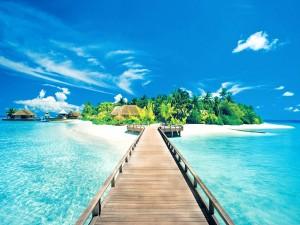 Caminando hacia la isla