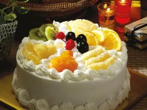Sabroso pastel de frutas