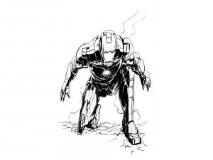 Dibujo de Iron Man