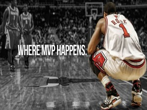Derrick Rose en un partido de los Chicago Bulls