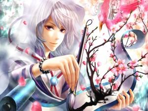 Dibujando cerezos en flor