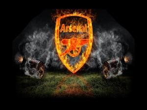 Escudo del Arsenal en llamas