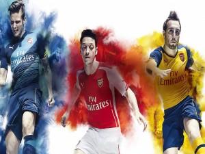 Colores y jugadores del Arsenal F. C.