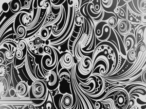 Espirales en blanco y negro