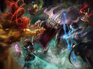 "Gran batalla ""League of Legends"""