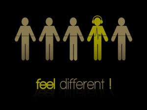 Sentirse diferente con música