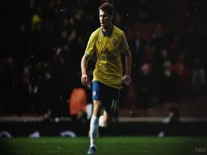 Aaron Ramsey con la camiseta del Arsenal