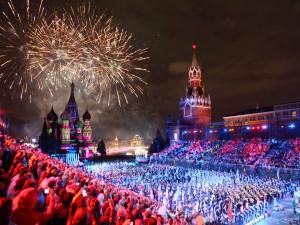 Fuegos artificiales en Moscú