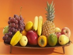 Bandeja con sabrosas frutas