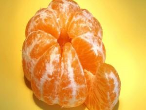 Gajos de una mandarina