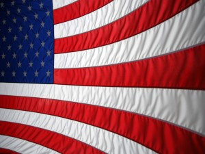 Franjas y estrellas de la bandera americana