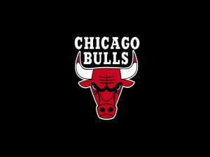 Logo de los Chicago Bulls en fondo negro