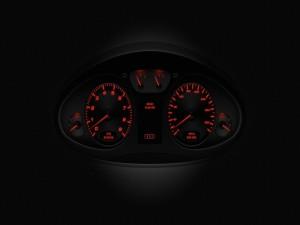 Cuenta kilómetros de un Audi R8