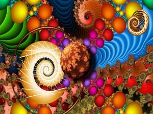 Colores y formas abstractas