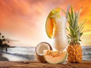 Refrescante cóctel de frutas