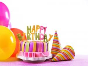 Torta decorada para festejar un cumpleaños