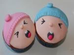 Cupcakes decorados con caras de bebés