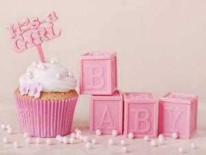 Cupcake para un festejo de bebé