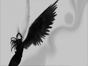 Ángel con las alas extendidas