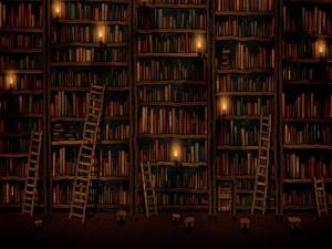 Velas en la biblioteca
