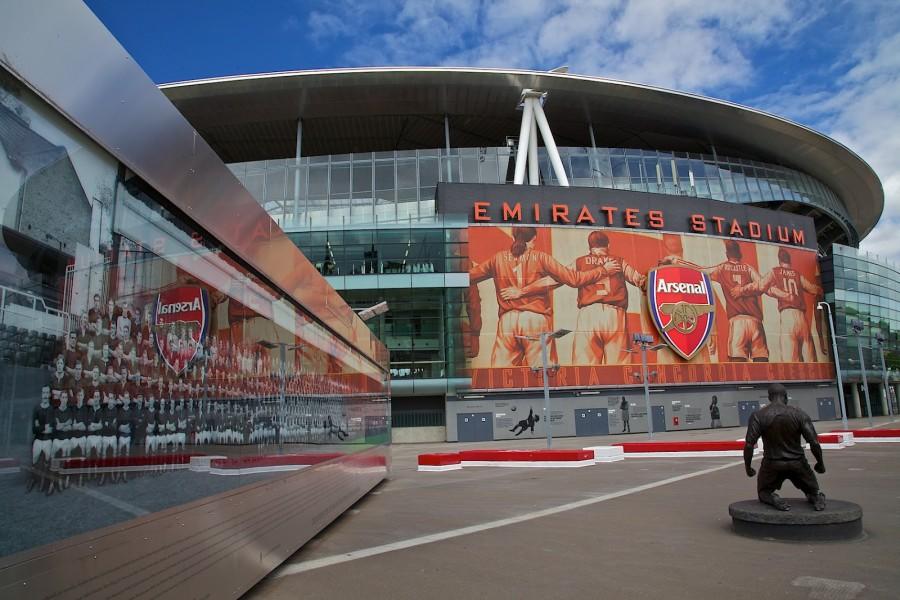 Afueras del estadio del Arsenal Emirates