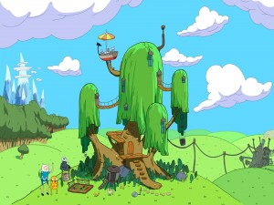 "La casa del árbol de ""Adventure Time"""