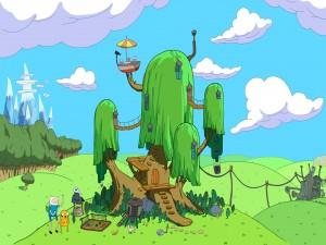 """La casa del árbol de """"Adventure Time"""""""