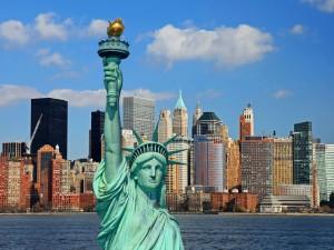Estatua de la Libertad y la ciudad de Nueva York