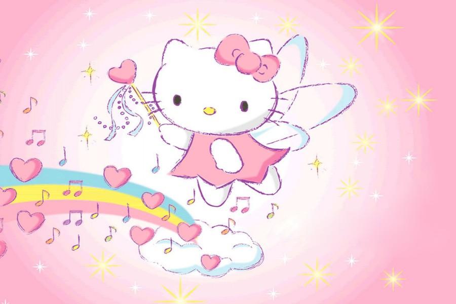 Hello Kitty en un arcoíris musical