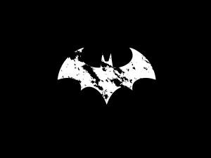 Logo de Batman en blanco y negro