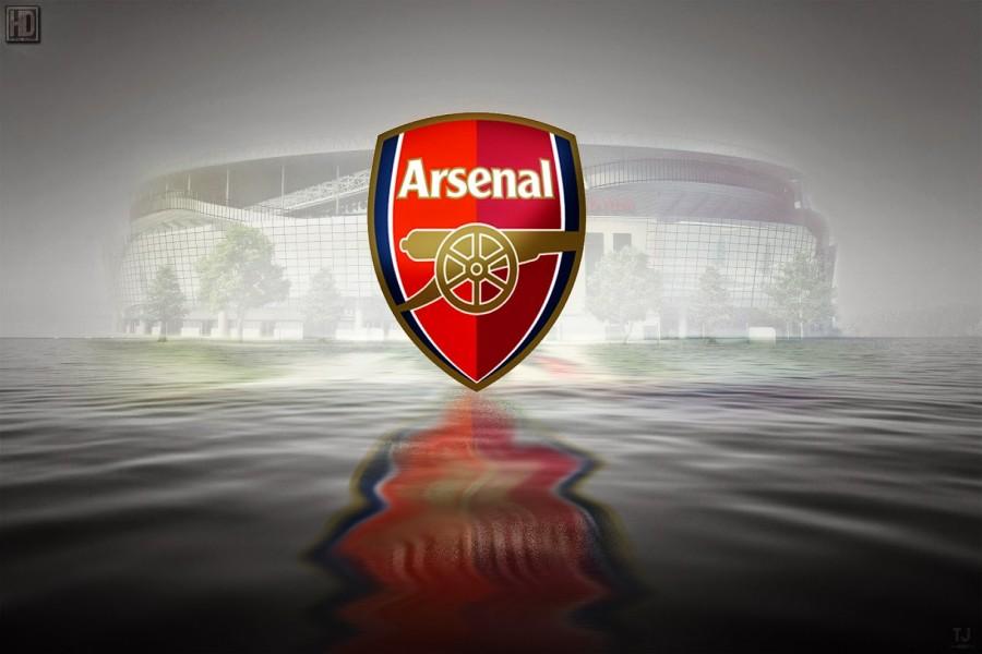 Escudo del Arsenal sobre el agua