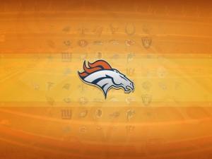 Logo de los Denver Broncos en un fondo naranja