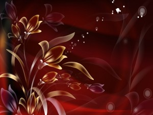Imagen con flores abstractas