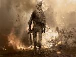 """Soldado saliendo de entre las llamas """"Call of Duty"""""""