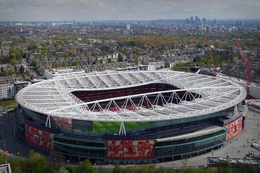Vista del estadio del Arsenal