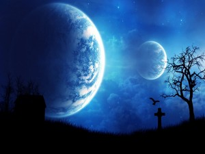 Lunas iluminando el cielo