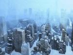 Nevando en la ciudad