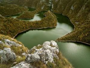 Vista de un hermoso río
