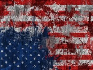 Bandera americana descolorida