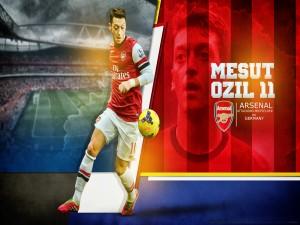 Ozil jugando en el Arsenal