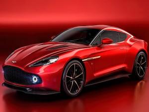 Aston Martin Vanquish de color rojo