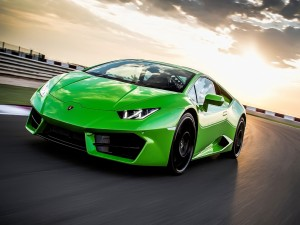 Lamborghini Huracán de color verde